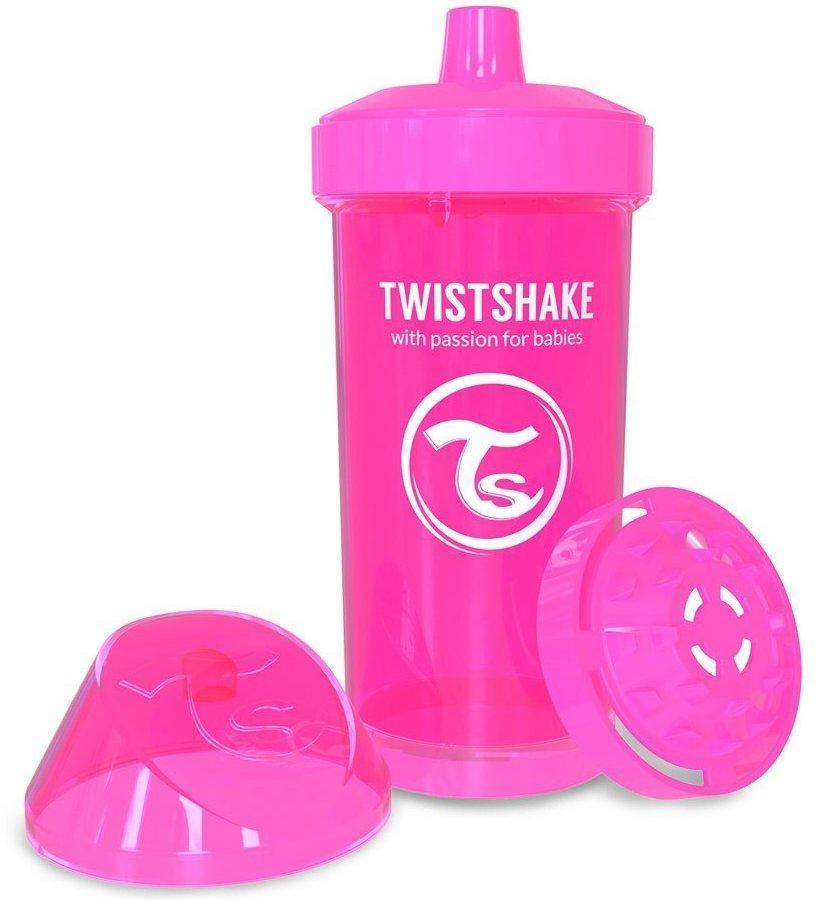 Чашка детская Twistshake 12+ мес 360 мл - розовая (24901)
