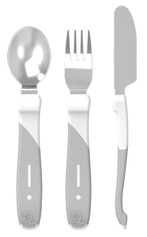 Набор столовых приборов Twistshake 12+ мес - белый (69840)