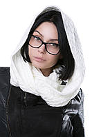 Снуд AW362 (One Size, белый , 60% акрил/ 30% шерсть/ 10% эластан)