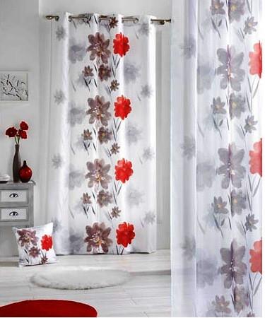 Цветочные мотивы в интерьере. Ткань для штор.