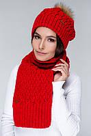 Шарф AW515 (One Size, красный, 60% акрил/ 30% шерсть/ 10% эластан)