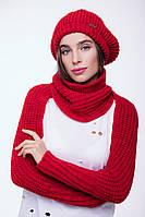 Шарф AW535 (One Size, красный, 60% акрил/ 30% шерсть/ 10% эластан)