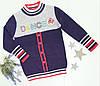 Детская свитер Deloras на девочку р. 98-128 серый+сирень