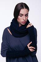 Снуд AW549 (One Size, темно-синий, 60% акрил/ 30% шерсть/ 10% эластан)