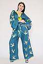 Женский костюм вышитый бохо штаны с вышивкой и поясом,  блуза бохо стиль хиппи, вышитая одежда лето кантри , фото 7