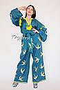 Женский костюм вышитый бохо штаны с вышивкой и поясом,  блуза бохо стиль хиппи, вышитая одежда лето кантри , фото 9