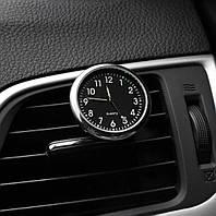 Часы автомобильные в решетку воздуховода или на скотч к поверхности (ЧЕРНО-БЕЛЫЙ ЦИФЕРБЛАТ)