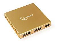 Концентратор USB2.0 Gembird UH-006 Gold 4хUSB2.0