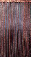 """Шторы нити кисея """"Спиральки"""", цвет венге. Код 067нш, фото 1"""