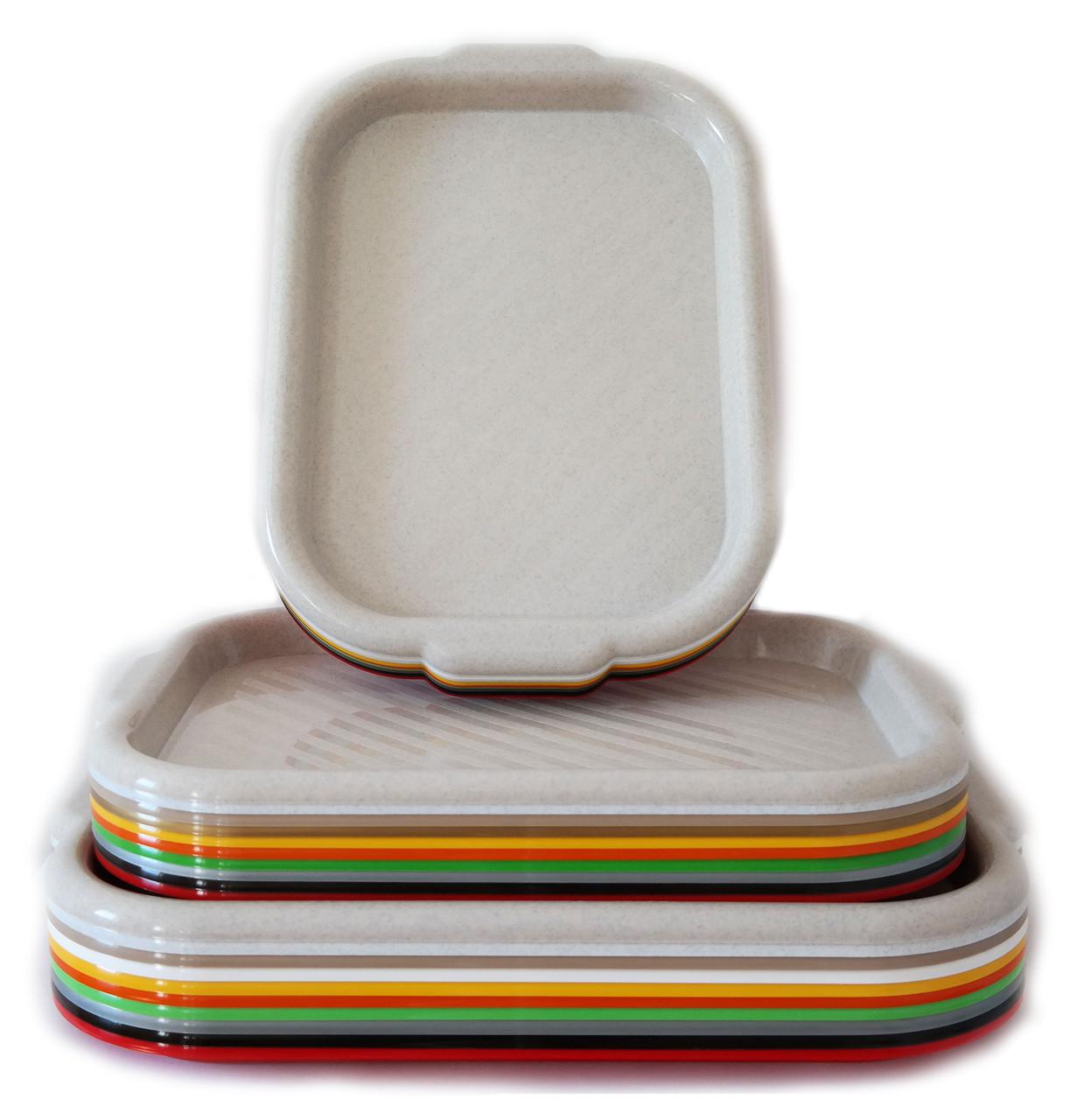 Піднос пластиковий (10 кольорів), 40*25 см, ММ