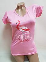 Футболка женская Фламинго   (42-44)