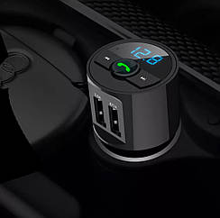 Bluetooth FM модулятор + Громкая связь + Вольтметр + Зарядное 2XUSB