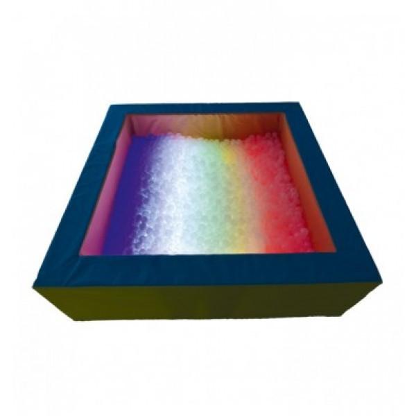 Сухой бассейн с подсветкой квадратный