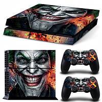 Виниловые наклейки для PS4 и Dualshock Джокер Joker Custom Skin