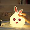 Детский силиконовый ночник HOLIHEYO зайчик с пультом управления Original, фото 7