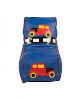 Кресло мешок детский Машинка синий, фото 1