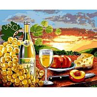 Картина по номерам Белое вино с фруктами, 40x50 см., Babylon