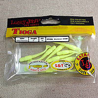 "LUCKY JOHN Виброхвост 2""  TIOGA S88 (Yellow Chartreuse)"