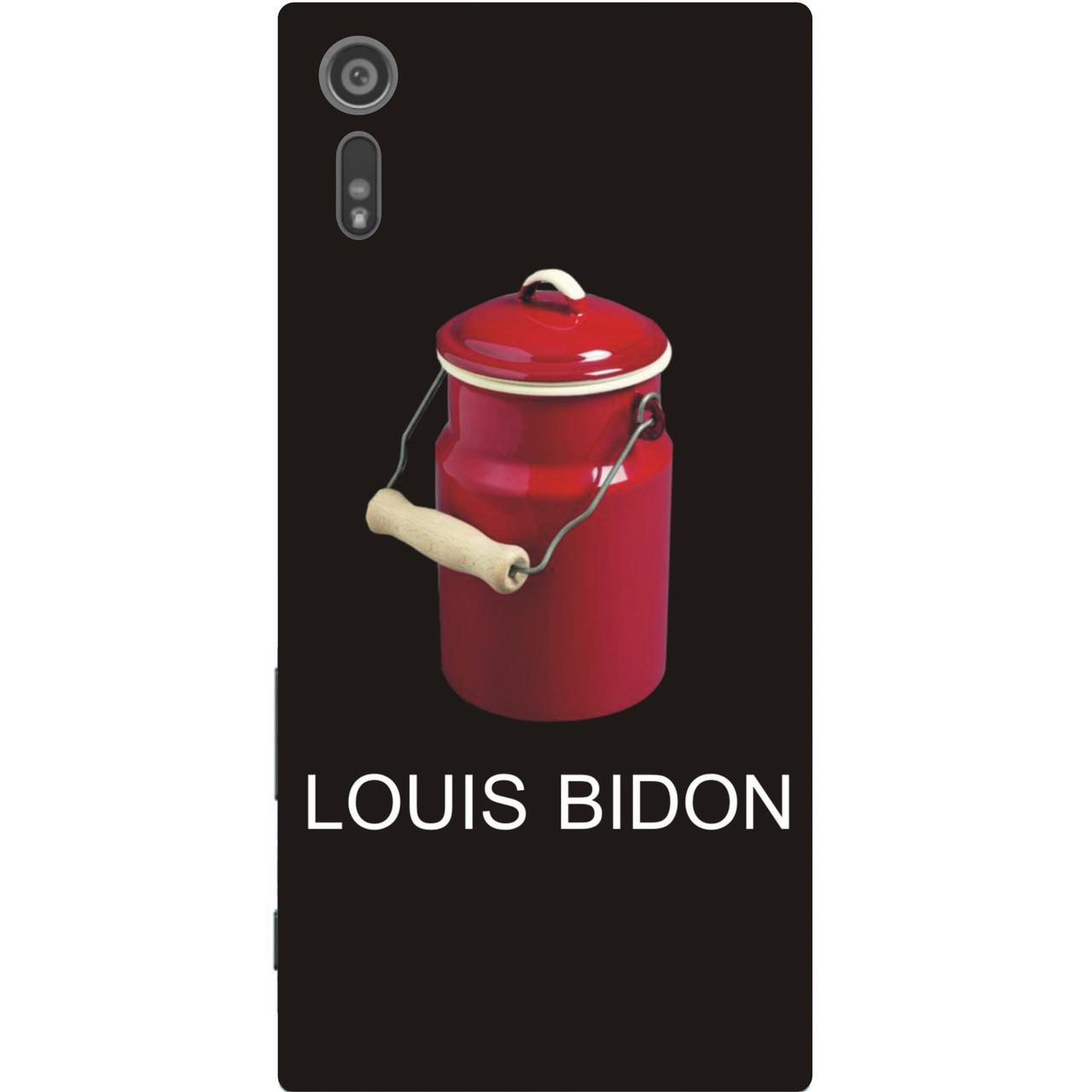Антибрендовый силиконовый чехол для Sony Xperia XZ f8332 с картинкой Louis Bidon