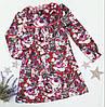 Трикотажное детское платье-туника в цветочек Deloras на девочку р. 98-128