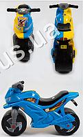 Каталка Спортивный мотоцикл двухколесный, цвет синий с желтым максимальная нагрузка 30 кг.(+) (Арт. MRO-SPORTB