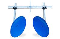 Окучник дисковый мотоблочный на двойной сцепке ТМ Агромарка (Ø450 мм, на подшипниках)