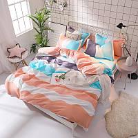 Полосатый комплект постельного белья  (полуторный)