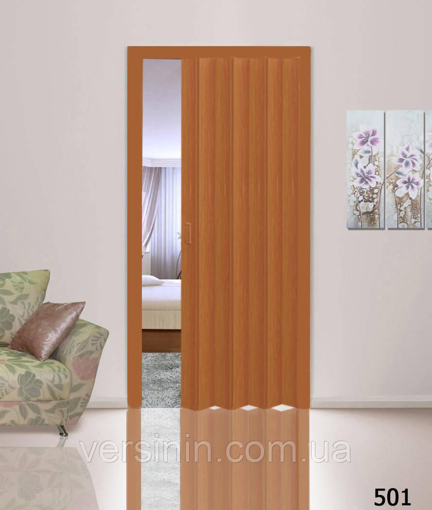 Дверь гармошка глухая вишня 501 (метровая)