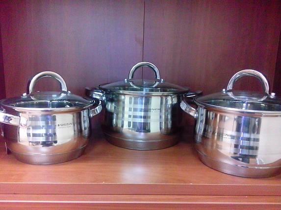 Набор посуды VISSNER VS 1060 Набор кастрюль 6 предметов 9-ти слойное дно, фото 2