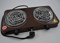 Электроплита 2 комфорки спираль Domotec MS-5802 (1000 Вт)