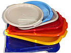 Піднос пластиковий (10 кольорів), 40*25 см, ММ                                   , фото 9