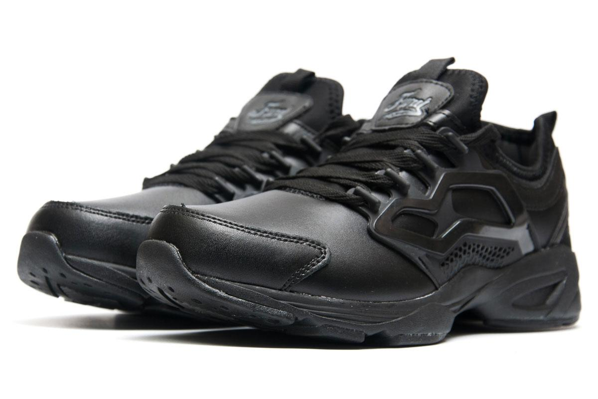 Кроссовки мужские  в стиле Reebok Fury Adapt, черные (1063-2) [  44 (последняя пара)  ]