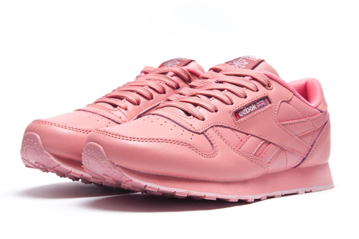 Кроссовки женские  в стиле Reebok Classic, розовые (1071-6) [  37 39  ]