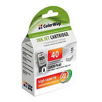 Картридж CW (CW-CPG40-I) Canon Pixma iP-1600/2200/MP-150/170/450 Black (аналог PG-40)