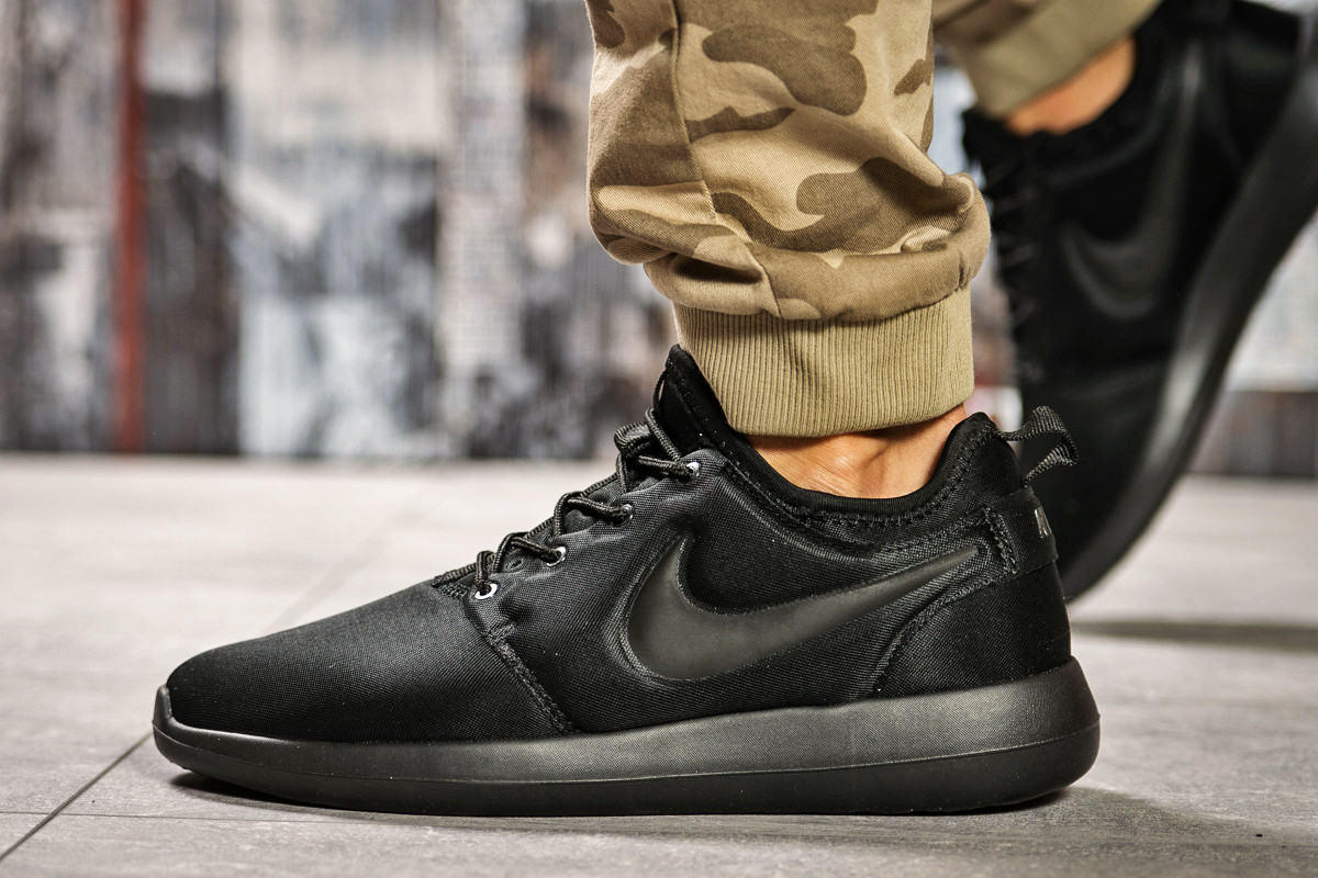 Кроссовки мужские  в стиле Nike Roshe Two, черные (2532-3) [  44 (последняя пара)  ]