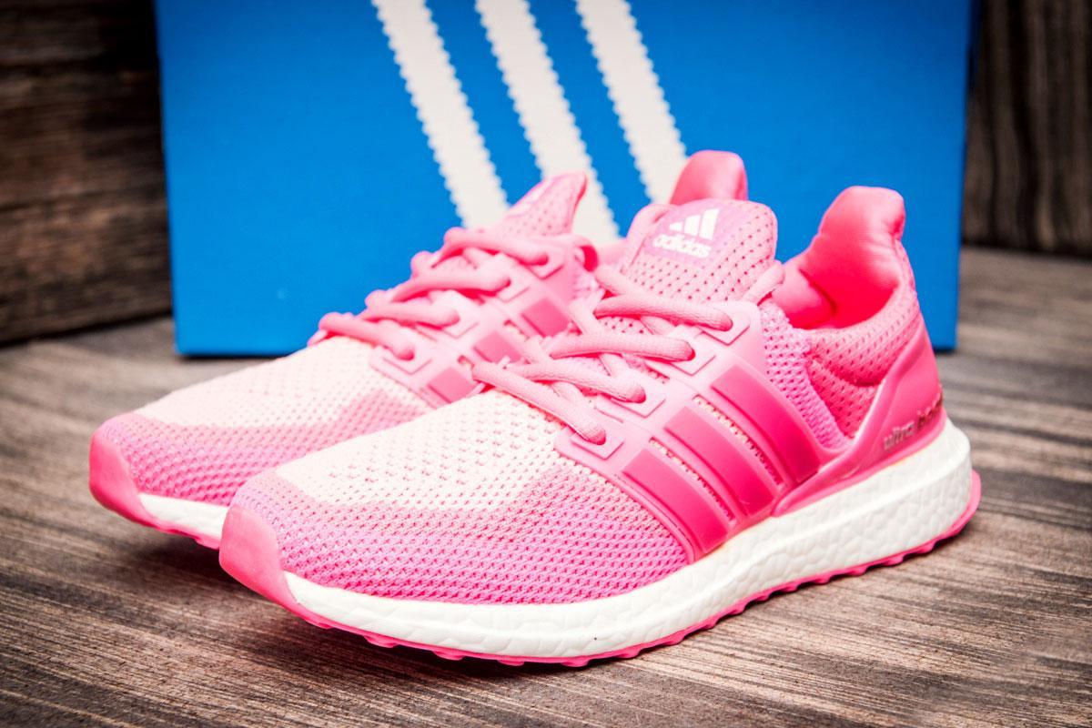 Кроссовки женские  в стиле Adidas Ultra Boost, розовые (2537-6) [  41 (последняя пара)  ]