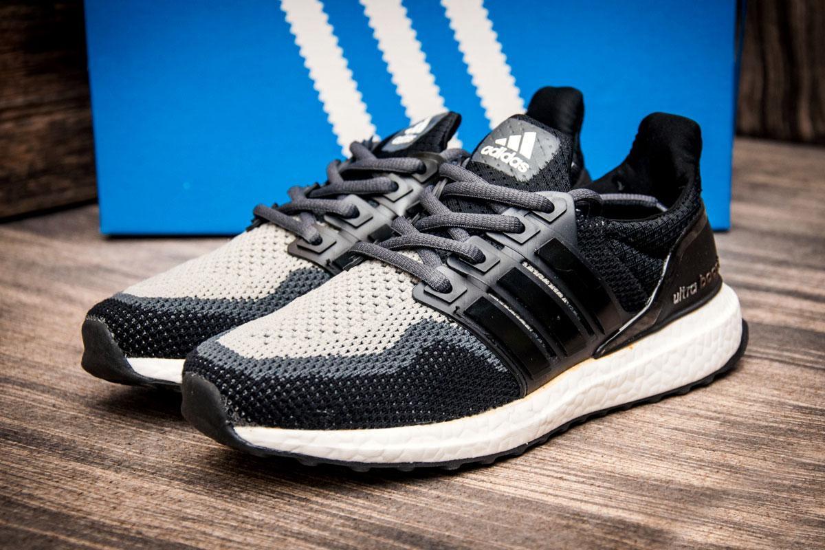 Кроссовки женские  в стиле Adidas Ultra Boost, черные (2537-7) [  38 (последняя пара)  ]