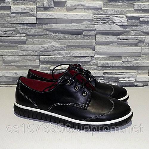 Туфли женские на утолщенной подошве, на шнурках