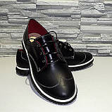 Туфли женские на утолщенной подошве, на шнурках, фото 4
