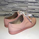 Туфлі жіночі лакові на шнурках, фото 2