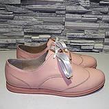 Туфлі жіночі лакові на шнурках, фото 3