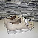 Туфли кожаные на утолщенной подошве, на шнурках, фото 5