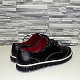 Туфлі жіночі на товстій підошві, на шнурках, фото 3