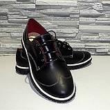 Туфлі жіночі на товстій підошві, на шнурках, фото 4