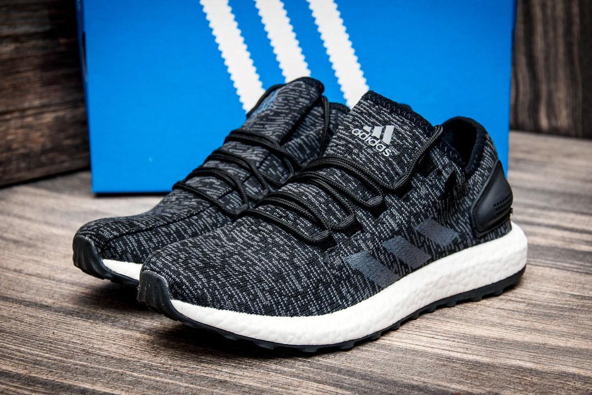 Кроссовки мужские  в стиле Adidas Ultra Boost M, черные (4258-3) [  44 (последняя пара)  ]