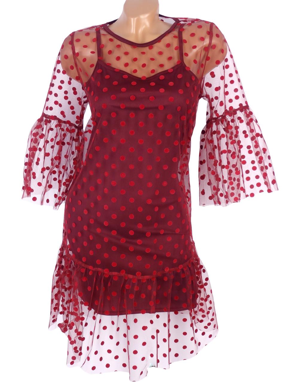 Нарядное платье необычного кроя (в расцветках)