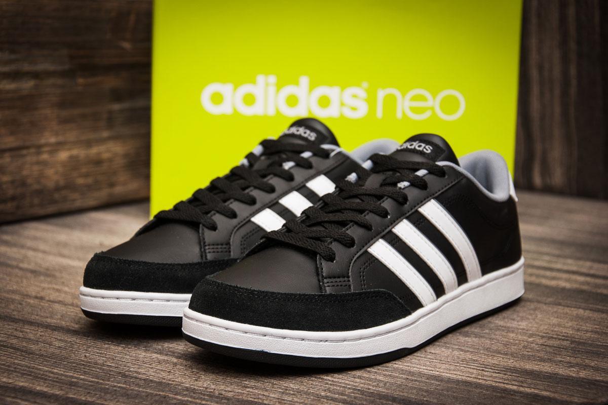 Кроссовки мужские  в стиле Adidas Neo Courtset  ( 100% оригинал  ), черные (7063) [  44 44,5  ]