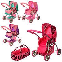 Детская коляска-трансформер для кукол Melogo 9672: люлька + корзина для игр