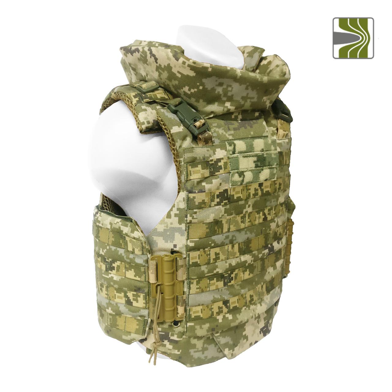 """Полегшений бронежилет """"Сармат"""" з  балістичним протиуламковим пакетом (м'якою бронею) 1а класу захисту."""