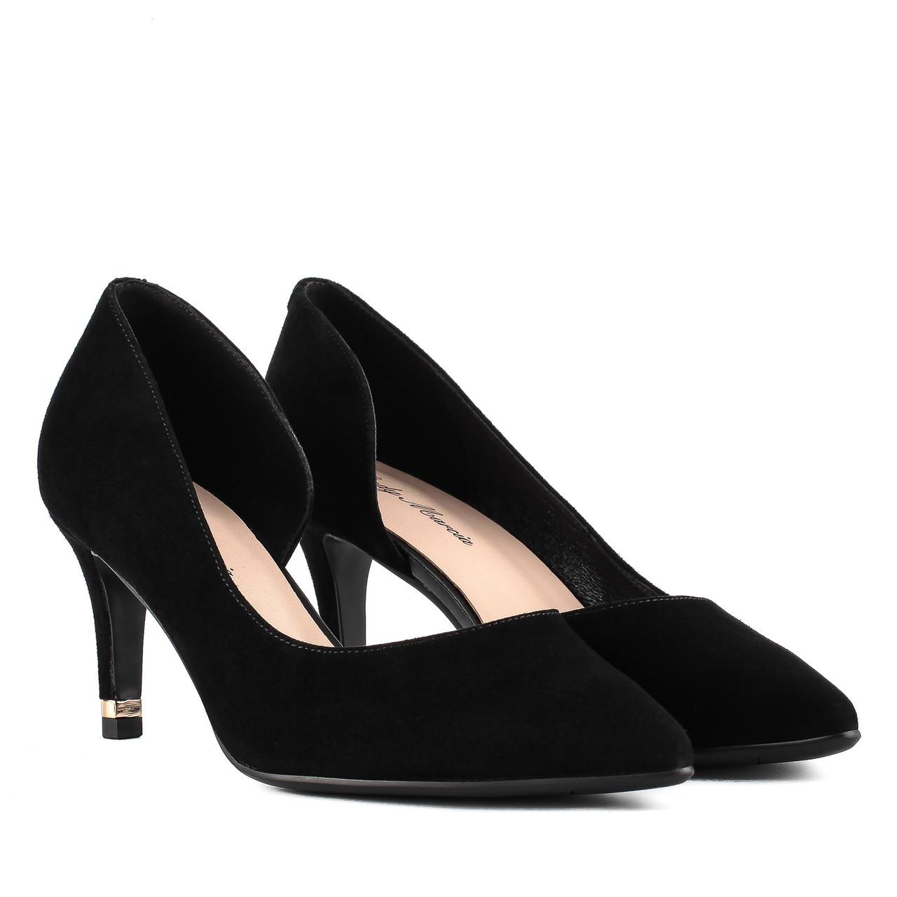 Туфли женские LADY MARCIA (черные, элегантные, на шпильке, роскошный дизайн)